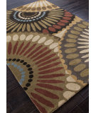 RugStudio presents Addison And Banks Hand Tufted Abr0056 Bronze Green / Mushroom Hand-Tufted, Best Quality Area Rug