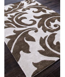RugStudio presents Addison And Banks Hand Tufted Abr0059 Antique White/Brown Hand-Tufted, Best Quality Area Rug