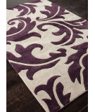 RugStudio presents Rugstudio Sample Sale 82054R Dark Ivory / Tulip Purple Hand-Tufted, Best Quality Area Rug