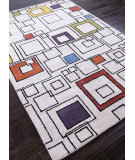 RugStudio presents Addison And Banks Hand Tufted Abr0079 Antique White/Multi Hand-Tufted, Best Quality Area Rug