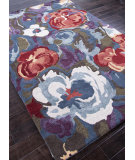 RugStudio presents Addison And Banks Hand Tufted Abr0081 Seaside Blue/Multi Hand-Tufted, Best Quality Area Rug