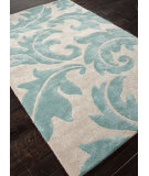 RugStudio presents Addison And Banks Hand Tufted Abr0103 Antique White / Light Turquoise Hand-Tufted, Best Quality Area Rug