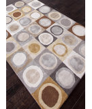 RugStudio presents Addison And Banks Hand Tufted Abr0112 White/Nickel Hand-Tufted, Best Quality Area Rug