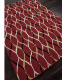 RugStudio presents Addison And Banks Hand Tufted Abr0134 Deep Claret Hand-Tufted, Better Quality Area Rug