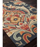 RugStudio presents Rugstudio Sample Sale 82125R Navy Hand-Hooked Area Rug