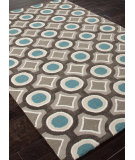 RugStudio presents Rugstudio Sample Sale 82127R Deep Charcoal / Aegean Blue Hand-Tufted, Better Quality Area Rug