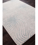 RugStudio presents Addison And Banks Hand Tufted Abr0181 White / Aqua Foam Hand-Tufted, Best Quality Area Rug