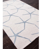 RugStudio presents Addison And Banks Hand Tufted Abr0187 White Ivory/Milky Blue Hand-Tufted, Best Quality Area Rug
