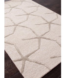RugStudio presents Addison And Banks Hand Tufted Abr0188 Beige White / Dark Taupe Hand-Tufted, Best Quality Area Rug