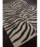 RugStudio presents Addison And Banks Hand Hooked Abr0191 Ebony / White Hand-Hooked Area Rug