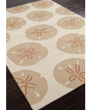 RugStudio presents Addison And Banks Hand Hooked Abr0195 Dark Ivory Hand-Hooked Area Rug