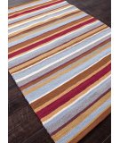 RugStudio presents Addison And Banks Hand Hooked Abr0196 Deep Red Hand-Hooked Area Rug