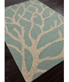 RugStudio presents Addison And Banks Hand Hooked Abr0200 Frosty Green Hand-Hooked Area Rug
