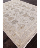 RugStudio presents Addison And Banks Hand Knotted Abr0929 Soft Gray Hand-Knotted, Good Quality Area Rug