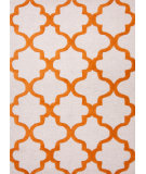 RugStudio presents Rugstudio Sample Sale 82178R White/Sun Orange Hand-Tufted, Best Quality Area Rug