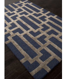 RugStudio presents Rugstudio Sample Sale 103432R Deep Navy Hand-Tufted, Good Quality Area Rug