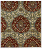 RugStudio presents Addison And Banks Triumph Cx-2258 Blue / Brick Red Hand-Tufted, Good Quality Area Rug