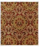 RugStudio presents Addison And Banks Triumph Cx-2258 Brick Red / Honey Gold Hand-Tufted, Good Quality Area Rug