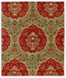 RugStudio presents Addison And Banks Triumph Cx-2258 Paradise Green / Ribbon Red Hand-Tufted, Good Quality Area Rug