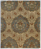 RugStudio presents Addison And Banks Triumph Cx-2258 Soft Gold / Blue Hand-Tufted, Good Quality Area Rug