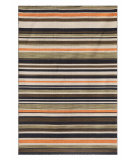RugStudio presents Addison And Banks Pura Vida Tamarindo Dark Ivory / Ebony Flat-Woven Area Rug
