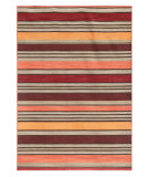 RugStudio presents Addison And Banks Pura Vida Cielo Deep Ruby Flat-Woven Area Rug