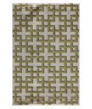 RugStudio presents Addison And Banks Triumph Dw-114 White / Wild Lime Flat-Woven Area Rug