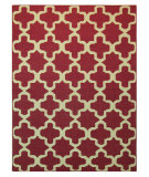 RugStudio presents Addison And Banks Maroc Aster Medium Magenta / White Flat-Woven Area Rug