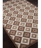 RugStudio presents Rugstudio Sample Sale 82366R Coffee / Beige Machine Woven, Good Quality Area Rug