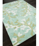 RugStudio presents Addison And Banks Hand Tufted Abr0359 Turquoise Blue/White Hand-Tufted, Better Quality Area Rug