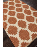 RugStudio presents Addison And Banks Flat Weave Abr0370 Red Orange / Ivory Cream Flat-Woven Area Rug