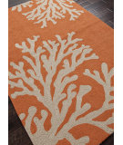 RugStudio presents Addison And Banks Hand Hooked Abr0373 Orange / Gray Hand-Hooked Area Rug