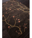RugStudio presents Addison And Banks Hand Knotted Abr1130 Deep Charcoal Hand-Knotted, Good Quality Area Rug