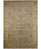 RugStudio presents Addison And Banks Triumph Cennet Sea Blue / Dark Ivory Hand-Knotted, Good Quality Area Rug