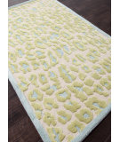 RugStudio presents Rugstudio Sample Sale 82216R Cloud White / Cool Aqua Hand-Tufted, Best Quality Area Rug