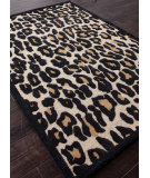 RugStudio presents Addison And Banks Hand Tufted Abr0443 Soft Gold / Ebony Hand-Tufted, Best Quality Area Rug