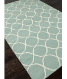 RugStudio presents Addison And Banks Flat Weave Abr0450 Light Turquoise / White Flat-Woven Area Rug