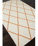 RugStudio presents Addison And Banks Flat Weave Abr0453 White / Orange Flat-Woven Area Rug