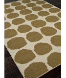 RugStudio presents Rugstudio Sample Sale 81844R Antique White / Bronze Green Flat-Woven Area Rug