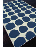RugStudio presents Rugstudio Sample Sale 81845R White / Dark Denim Flat-Woven Area Rug