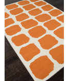 RugStudio presents Rugstudio Sample Sale 81861R White / Orange Flat-Woven Area Rug