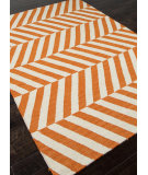 RugStudio presents Addison And Banks Flat Weave Abr0478 Orange / White Flat-Woven Area Rug