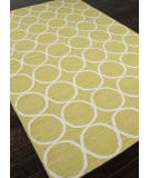 RugStudio presents Addison And Banks Flat Weave Abr0484 Wild Lime / White Flat-Woven Area Rug