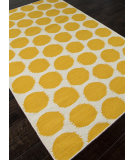 RugStudio presents Addison And Banks Flat Weave Abr0487 White / Mango Flat-Woven Area Rug