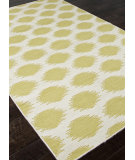 RugStudio presents Addison And Banks Flat Weave Abr0490 White / Wild Lime Flat-Woven Area Rug