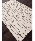 RugStudio presents Addison And Banks Flat Weave Abr0500 Antique White / Dark Brown Flat-Woven Area Rug