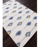 RugStudio presents Rugstudio Sample Sale 81889R White / Denim Blue Flat-Woven Area Rug