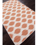 RugStudio presents Addison And Banks Flat Weave Abr0504 White / Paprika Flat-Woven Area Rug