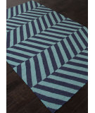 RugStudio presents Addison And Banks Flat Weave Abr1239 Deep Navy Flat-Woven Area Rug