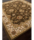 RugStudio presents Rugstudio Sample Sale 82224R Cocoa Brown / Dark Ivory Hand-Tufted, Better Quality Area Rug